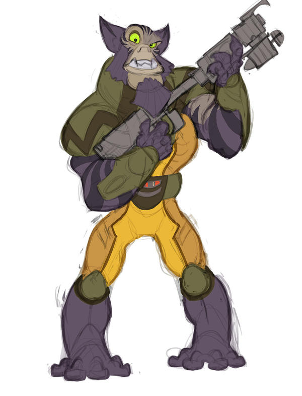 Zeb from Star Wars Rebels by thousandfoldart