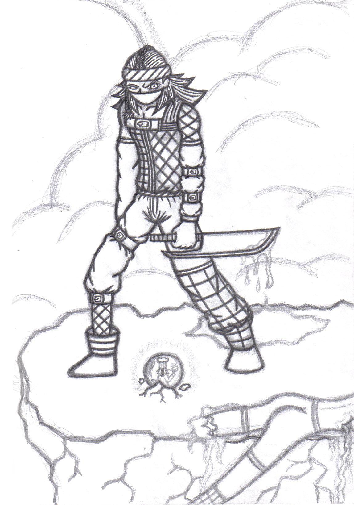 Kyubi - Create -A- Nin Sketch by crystalized-darkness