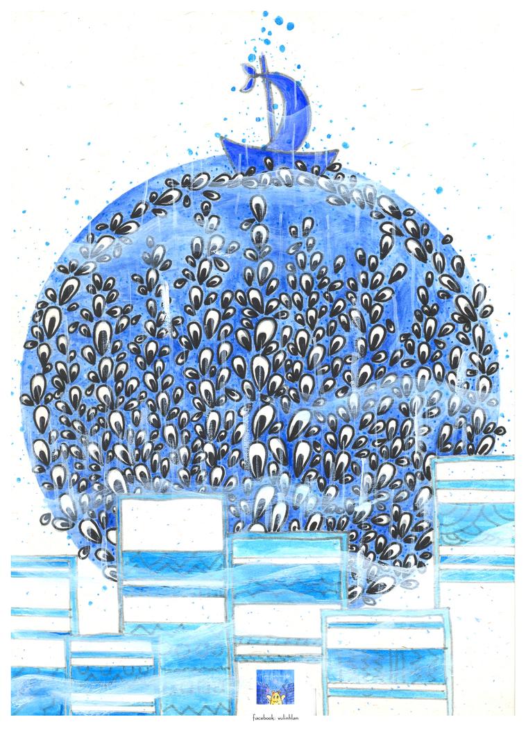 [Gallery] Convallaria Majalis  Winter_rain_blue_by_linhlanzt-d5zb536
