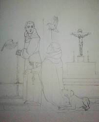 WIP Meeting of St. Francis of Assisi and St. Domin