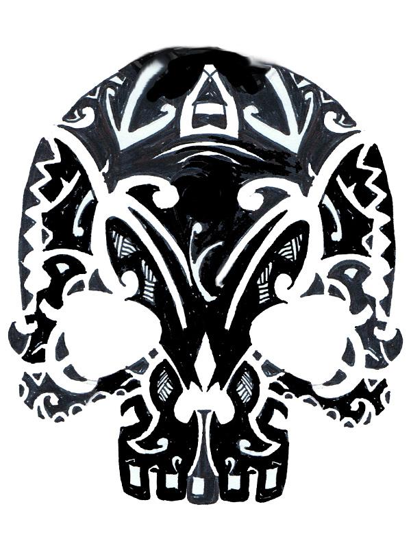 tribal skull by zerogradi on deviantart. Black Bedroom Furniture Sets. Home Design Ideas
