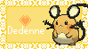 Dedenne love by real-bible-stamps