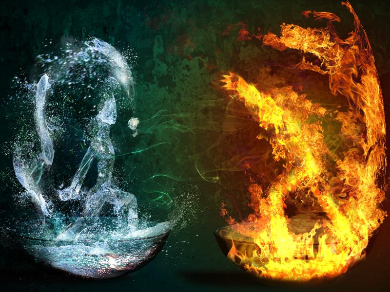 A War Between Fire n Water by niyya00