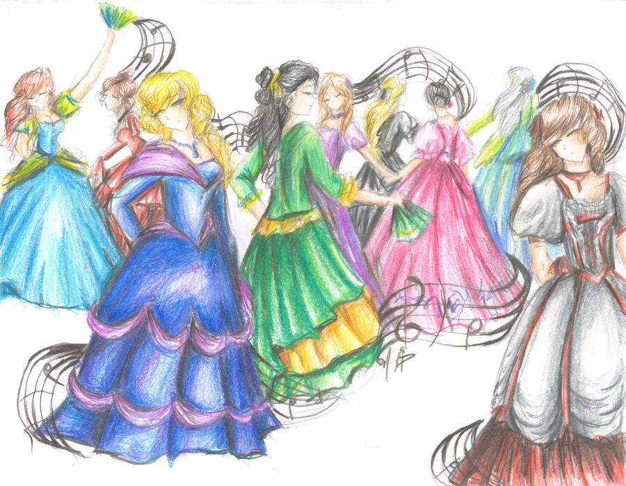 Nine Ladies Dancing By Mi Anju On Deviantart