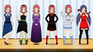 Kisekae Zipper Dresses