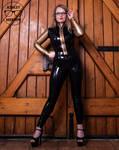 Ashley Merwin - Latex Jacket And Leggings