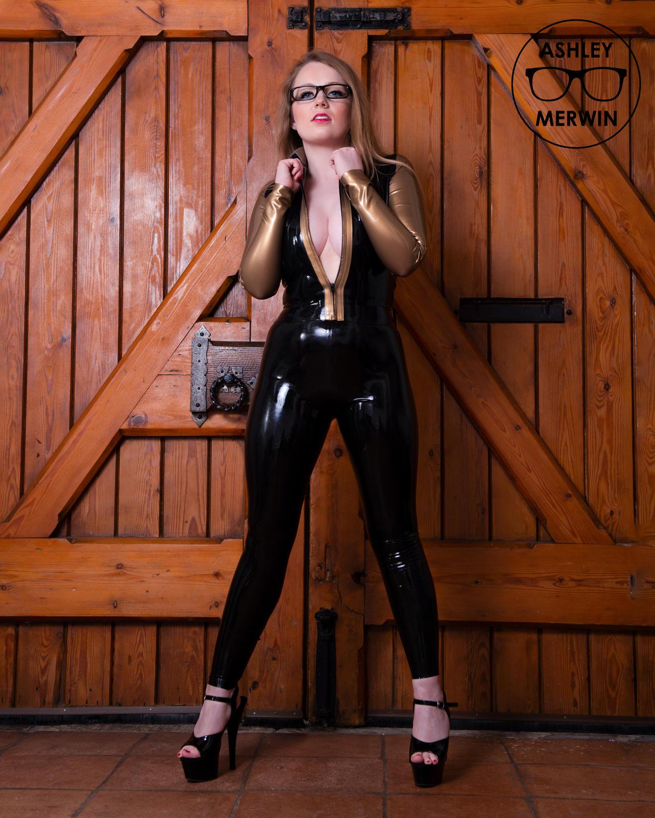 Ashley Merwin - Gold Latex Jacket