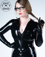 Ashley Merwin - Black Latex Dress