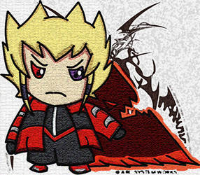 Blazblue X yugioh : Jack Atlas by LoveCartoonGame