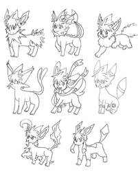 Eeveelution of Eevee Sena by LoveCartoonGame
