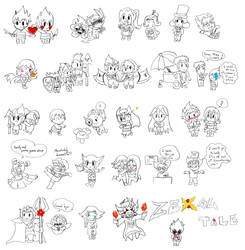 Undertale X Zexal = Zexaltale : Most of characters by LoveCartoonGame