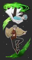 Two Geniuses Fall Through a Portal by whymeiy