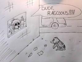 Thou Hast Befriended Raccoons by Javott