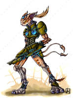 Caracal soldier by melvindevoor