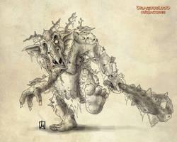 Dragonblood jungle troll by melvindevoor