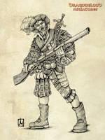 Dragonblood german mercenary by melvindevoor
