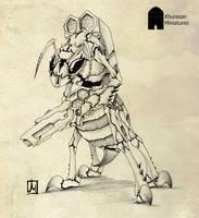 Khurasan wasp alien by melvindevoor