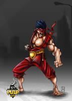 Crimson Oni by melvindevoor