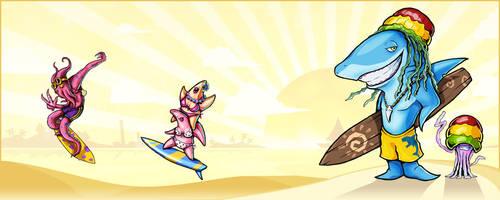 Sharky surfin