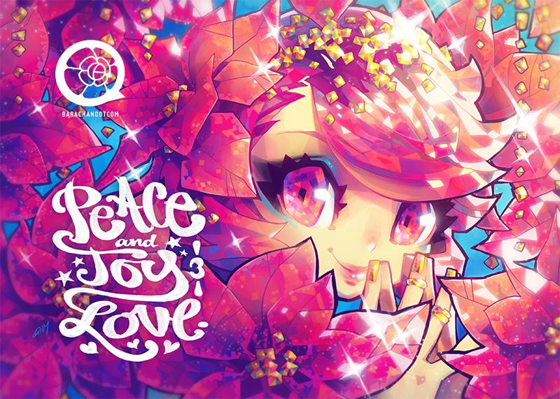 141128 peace joy love by bara-chan