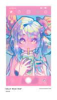 jelly milk tea
