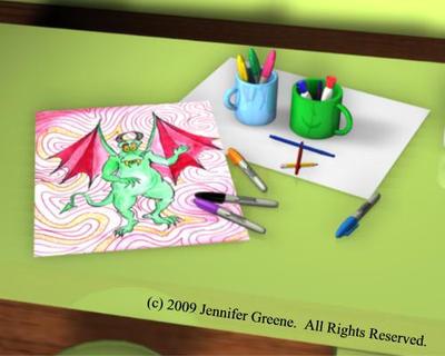 Jenn's Desk by CartoonJenn