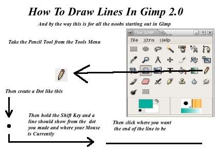How to draw lines in Gimp by brandon976431