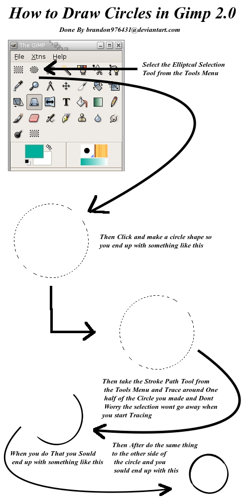 How to Draw a Circle in Gimp by brandon976431 on DeviantArt
