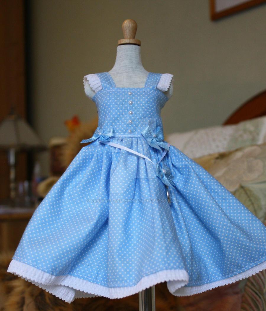 blue Alice in Wonderland inspired dress by ...