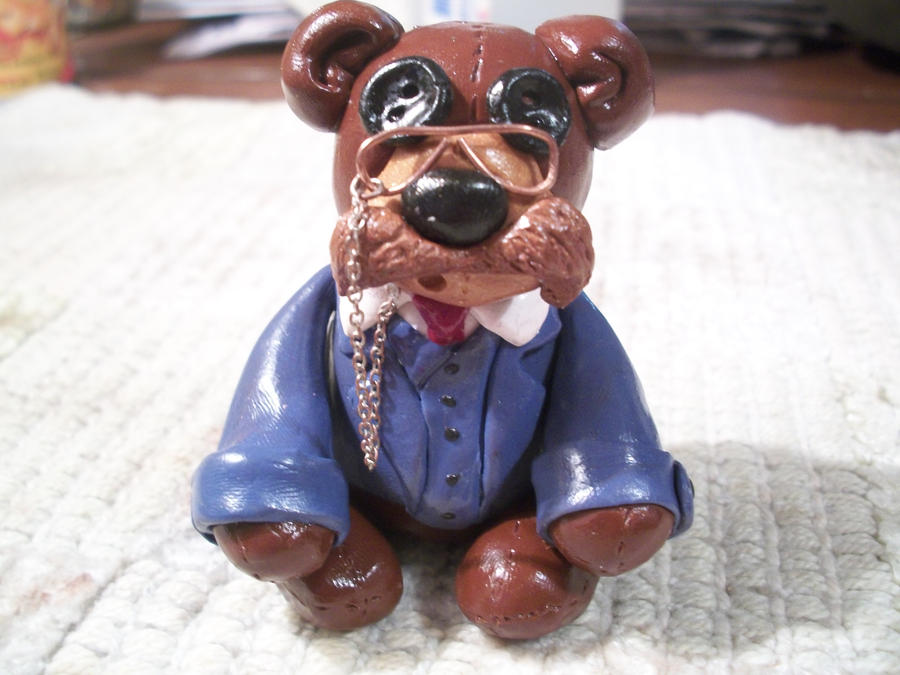 Teddy Roosevelt Clay Figurine by The-Muzick-Girl