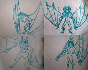 Man-Bat sketches