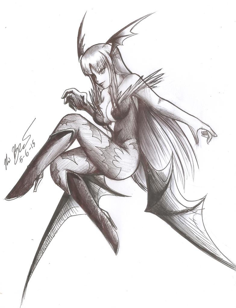 Makai Queen Morrigan by RyouKazehara