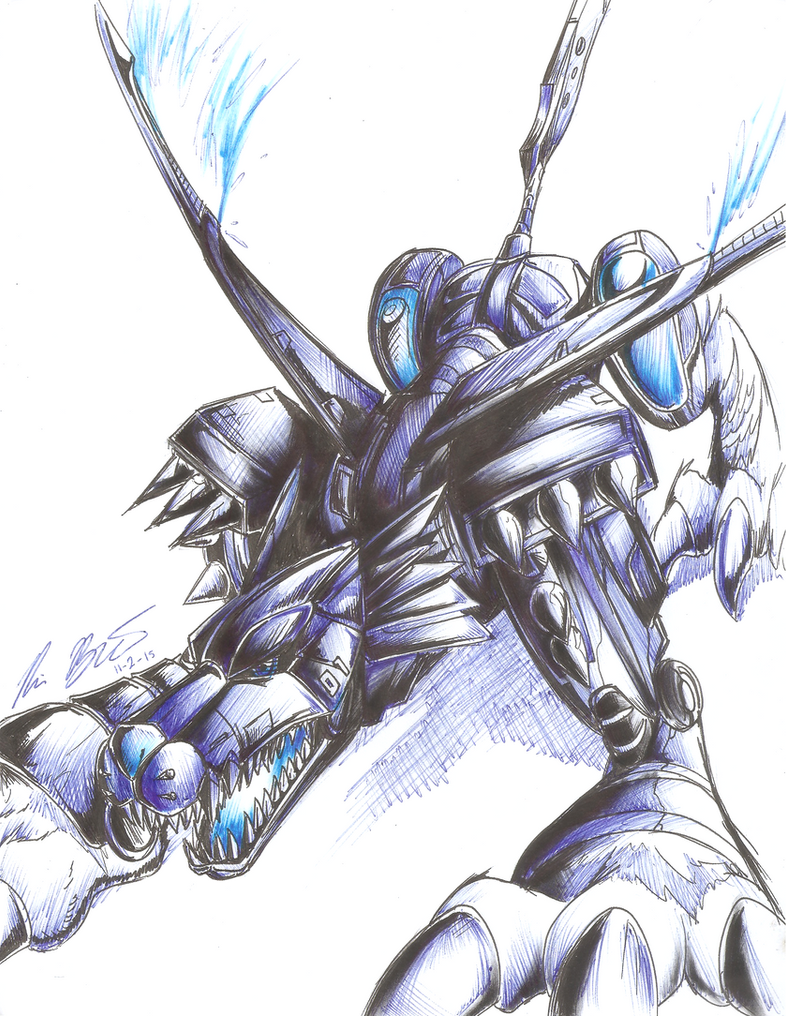 MetalGarurumon by RyouKazehara