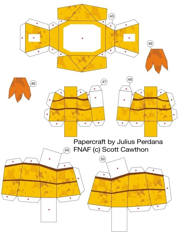 Как сделать из бумаги 5 ночей с фредди чику