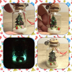 Christmas bottle tree charm by Brownie314