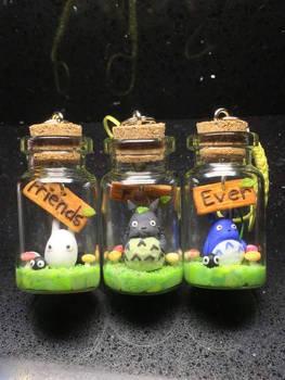 Miniature Totoro friendship charm