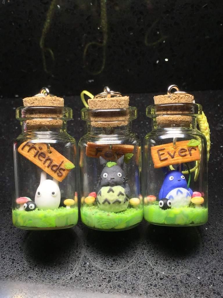 Miniature Totoro friendship charm by Brownie314