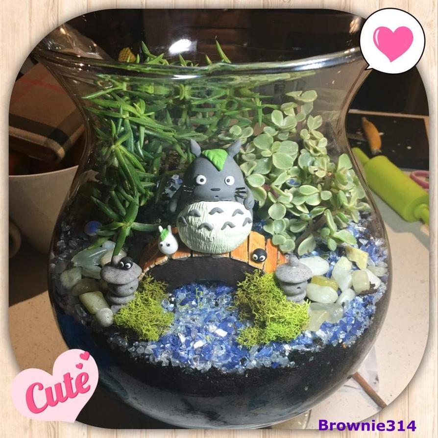Totoro Terrarium by Brownie314