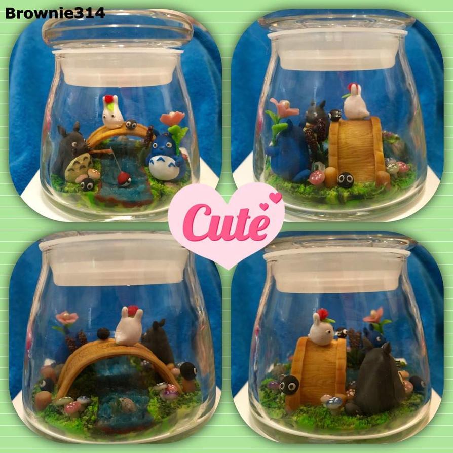 Totoro fishing by Brownie314