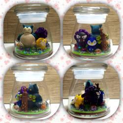 Pokemon Polymer clay Jar
