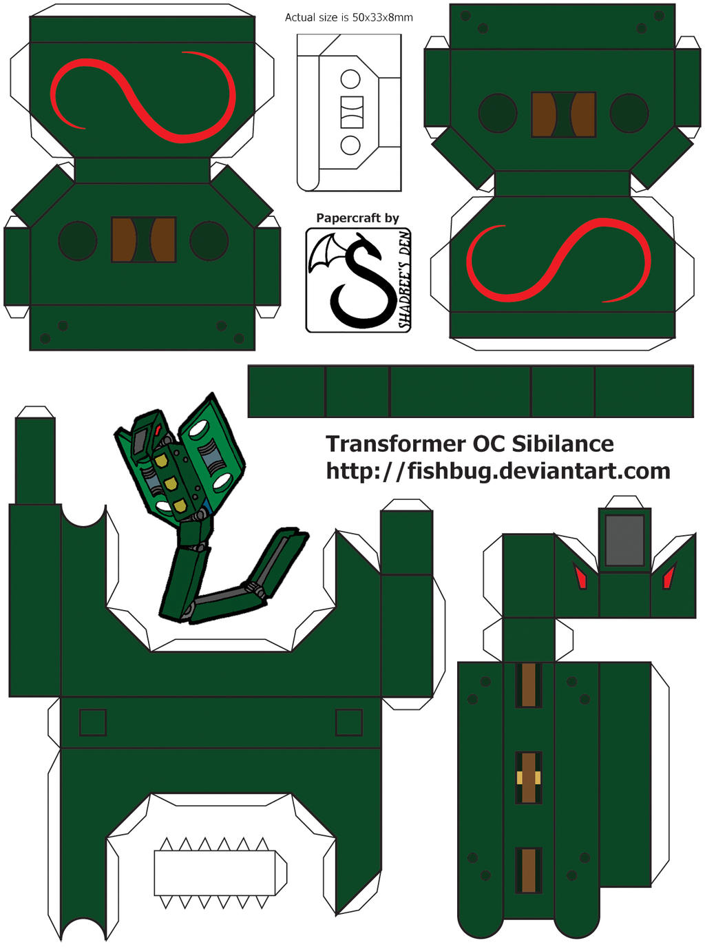 Papercraft Link Template Papercraft Template by