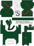 Transformer OC Sibilance papercraft - template