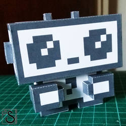 JustUs logo paper toy by shadree