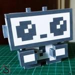 JustUs logo paper toy