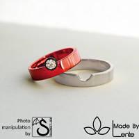 Pokeball style wedding ring