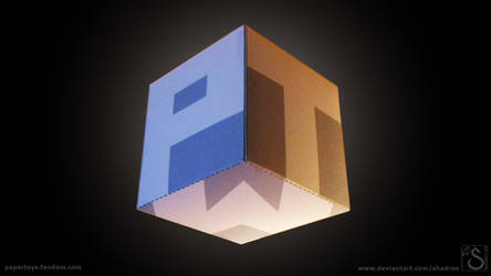 Paper Toy Wiki logo cube wallpaper
