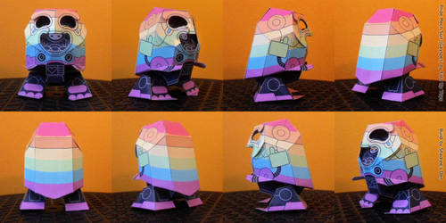 Fold Up Toys' Pride Mech Suit turnaround