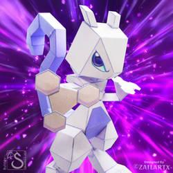 Mewtwo papercraft by Zailartx