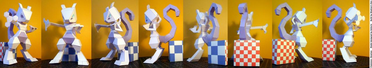Mewtwo papercraft by Zailartx turnaround