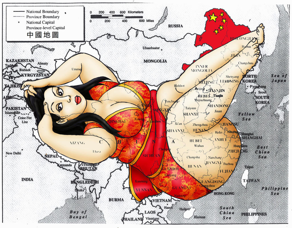 Map of China by oupelay